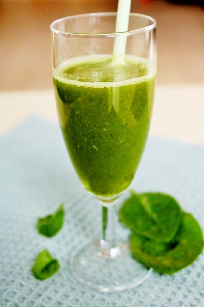 Spinat og grønkålsjuice
